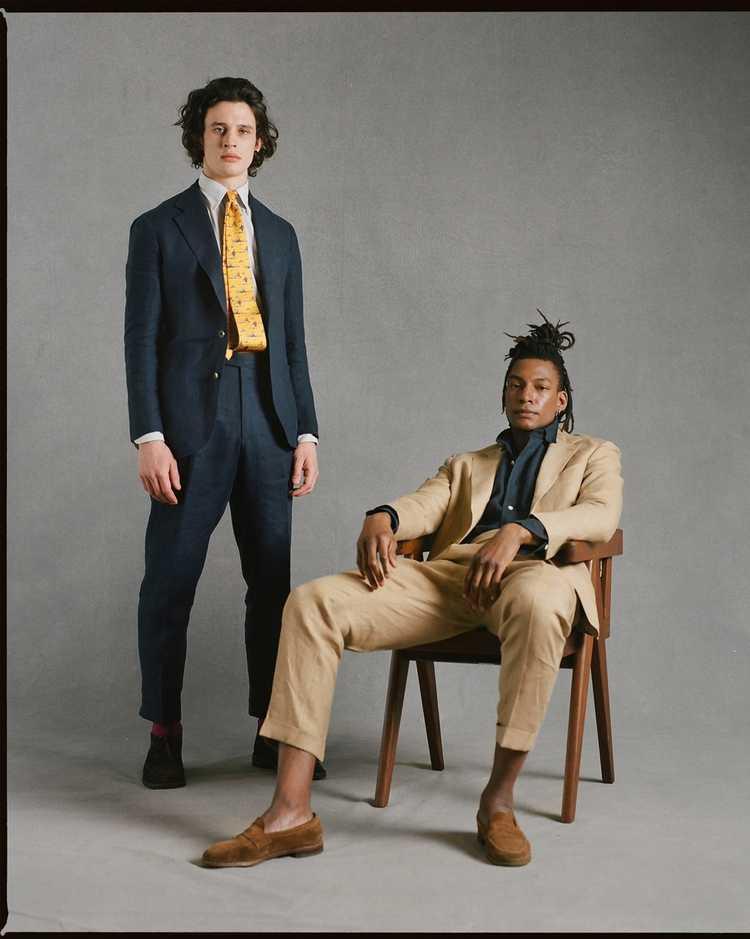 Drakes Drakes Linen Suit - image 12