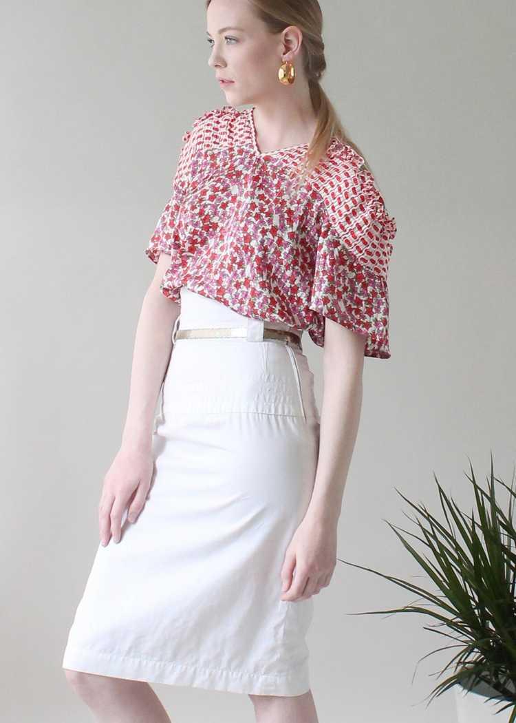 Vintage 1980s YSL White Skirt - image 1