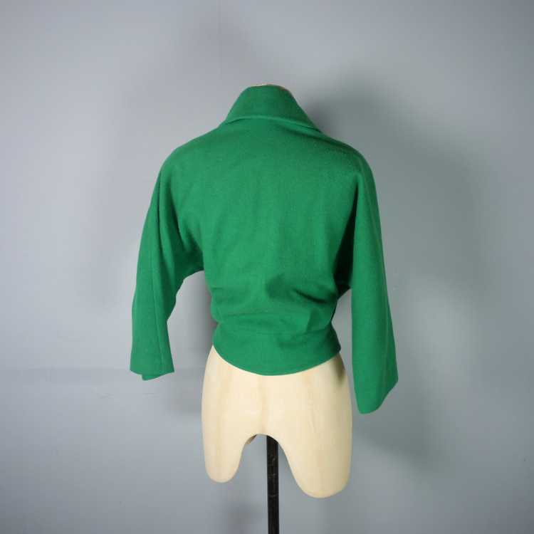 50s GREEN WOOL CROPPED BOLERO JACKET - M-L - image 9