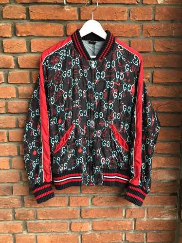 Gucci Gucci Ghost Silk Bomber - image 1