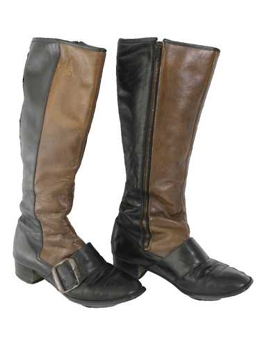 1960's Womens Mod Leather Boots Shoes