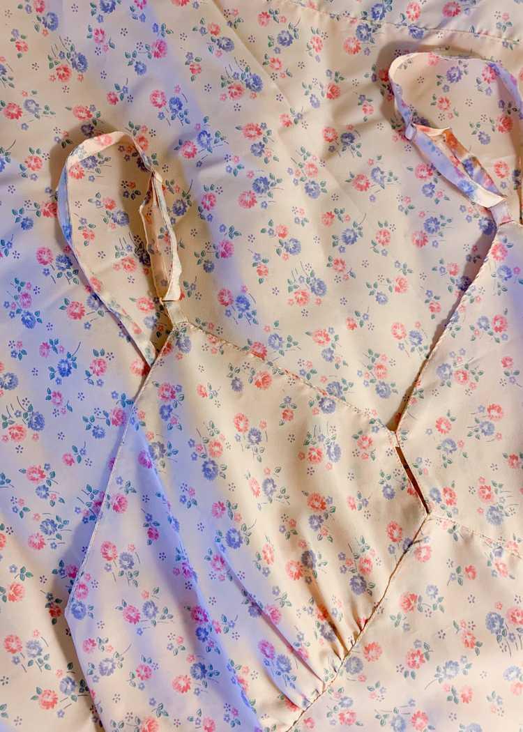 Vintage 1940s Floral Rayon Slip Dress - image 5