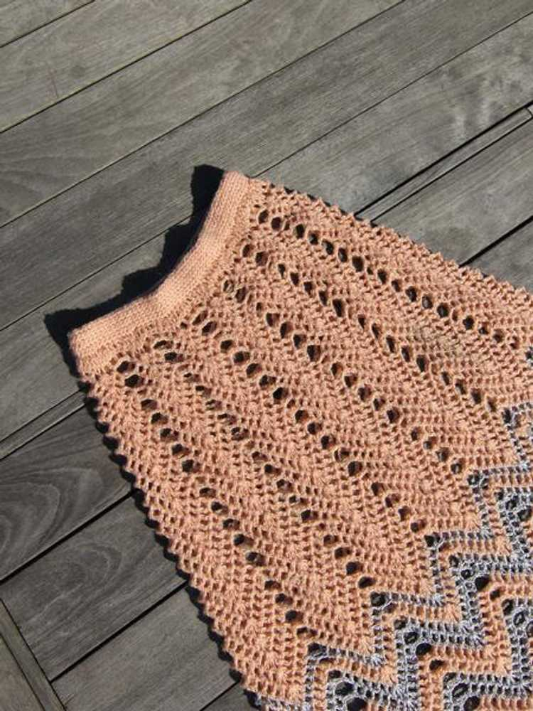 Metallic Crochet Skirt - image 4