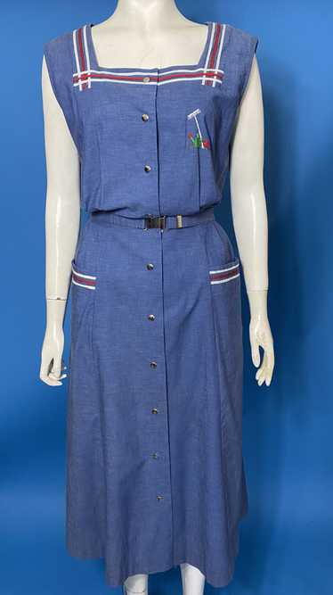 vintage 1940s pinafore sundress