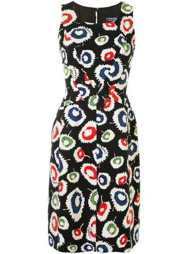 Chanel Pre-Owned 1997 patterned dress - Black