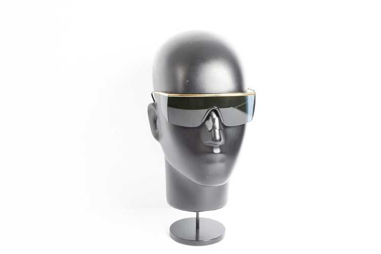 Versace GIANNI VERSACE shield black sunglasses - image 1