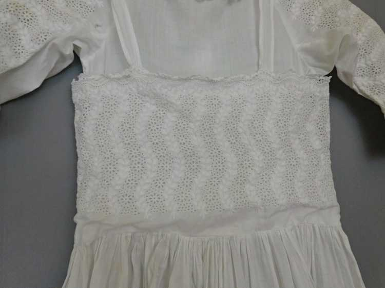 Antique Edwardian Little Girl Dress, Embroidered … - image 7