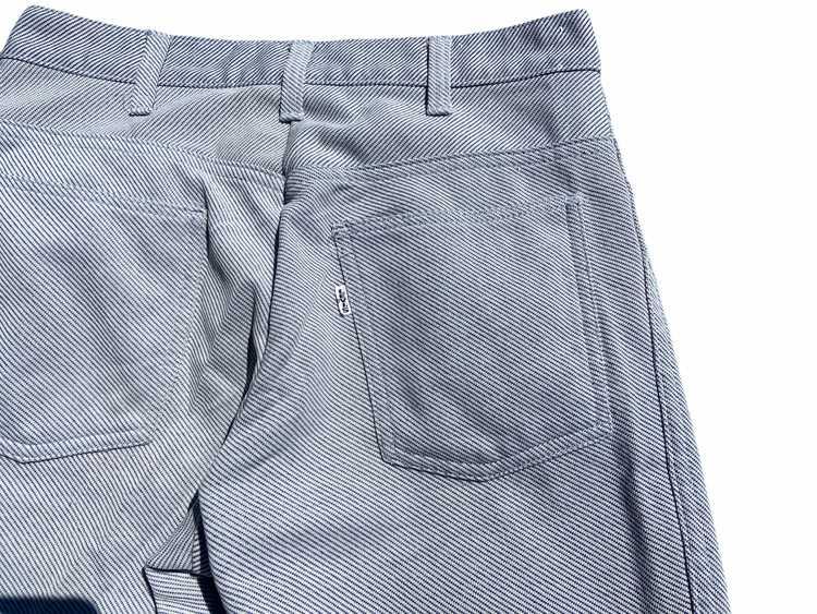 60s big E levis polyester twill black /white flar… - image 5