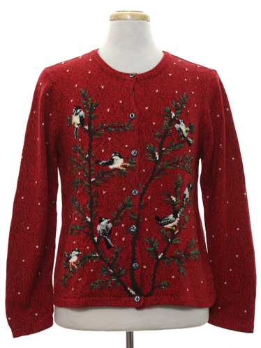 Coldwater Creek Womens Ugly Christmas Cardigan Swe