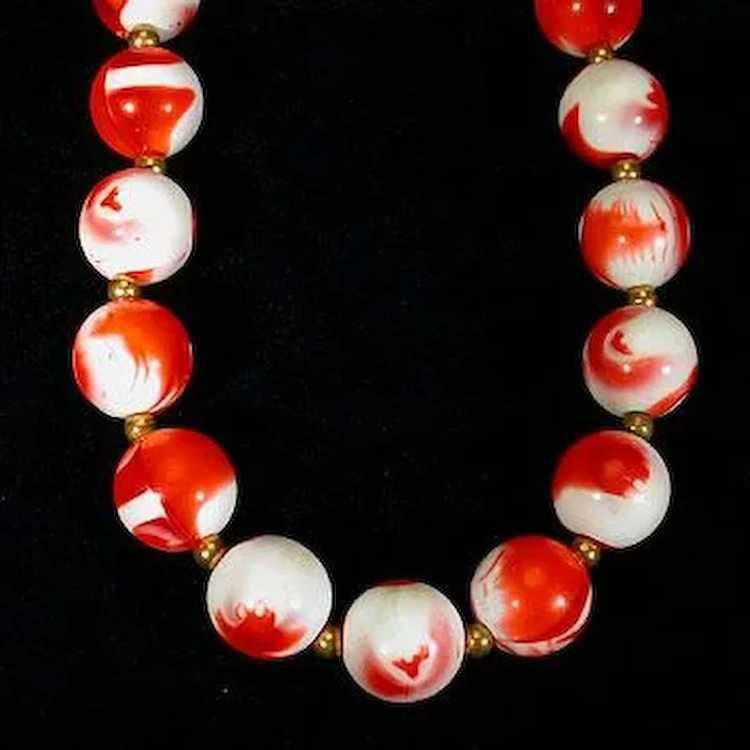 Strawberries and Cream Beaded Necklace - image 3