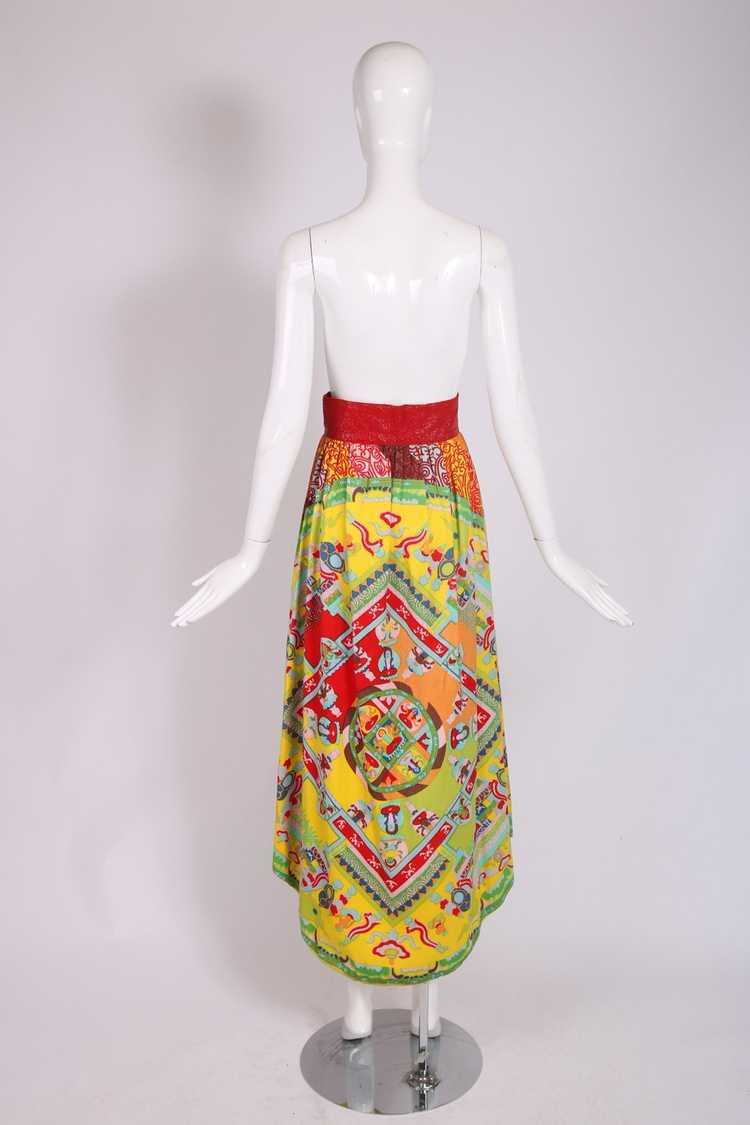 1970's Lanvin 'Buddha' Theme Maxi Skirt - image 5