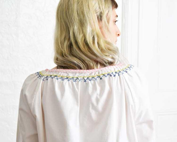 Vintage 1970s Peasant Blouse - image 4