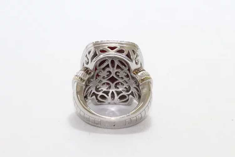 Sterling Silver Two Tone Ruby Ring - image 3