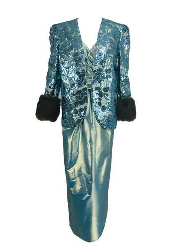 Nolan Miller Dynasty Collection Gown and Fur Trimm