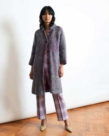 Vintage Purple Mohair Sweater Coat