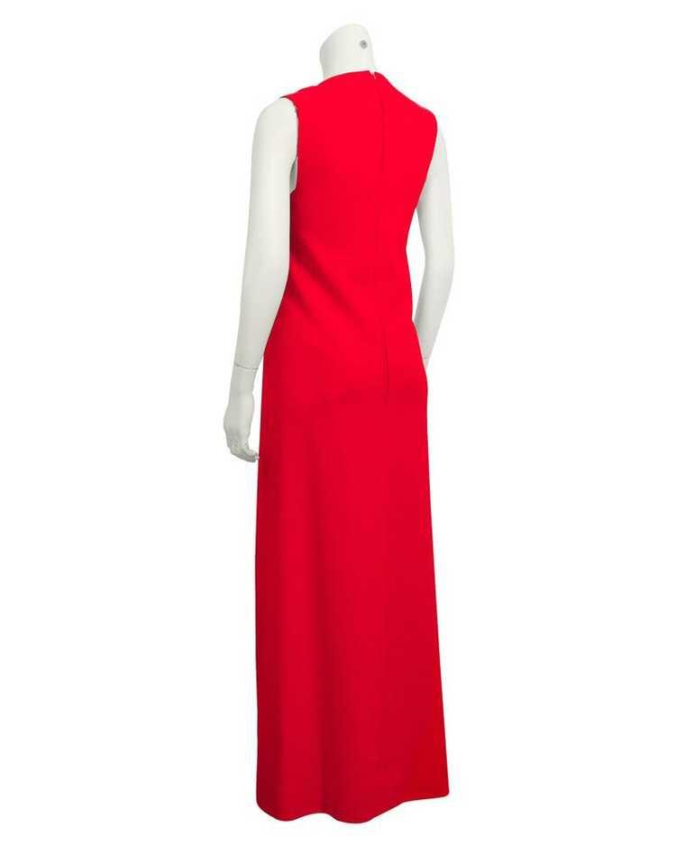 Pauline Trigere Red gown & coat ensemble - image 2
