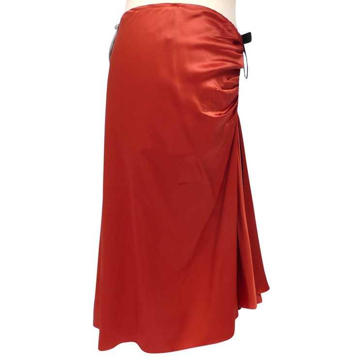 Lanvin Silk skirt with ruffles - image 2