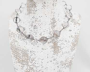 Art Deco Pools of Light Necklace - image 1