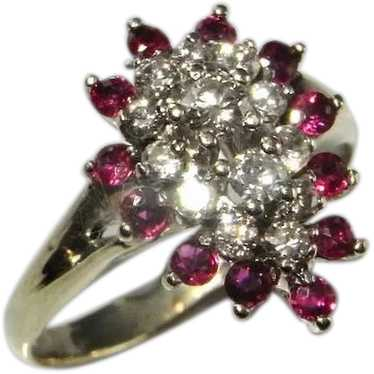 Natural Ruby Ring 1950s Mid Century Ruby Ring 14K