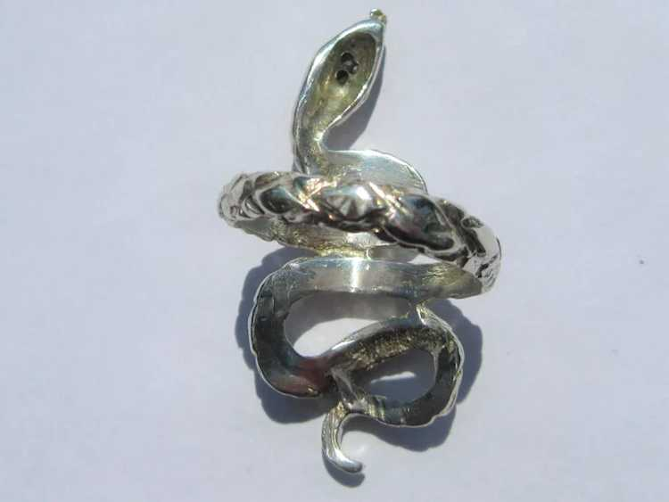 Sterling Silver Ruby Snake Ring - image 6