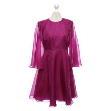 Dimitri Dress Silk in Fuchsia