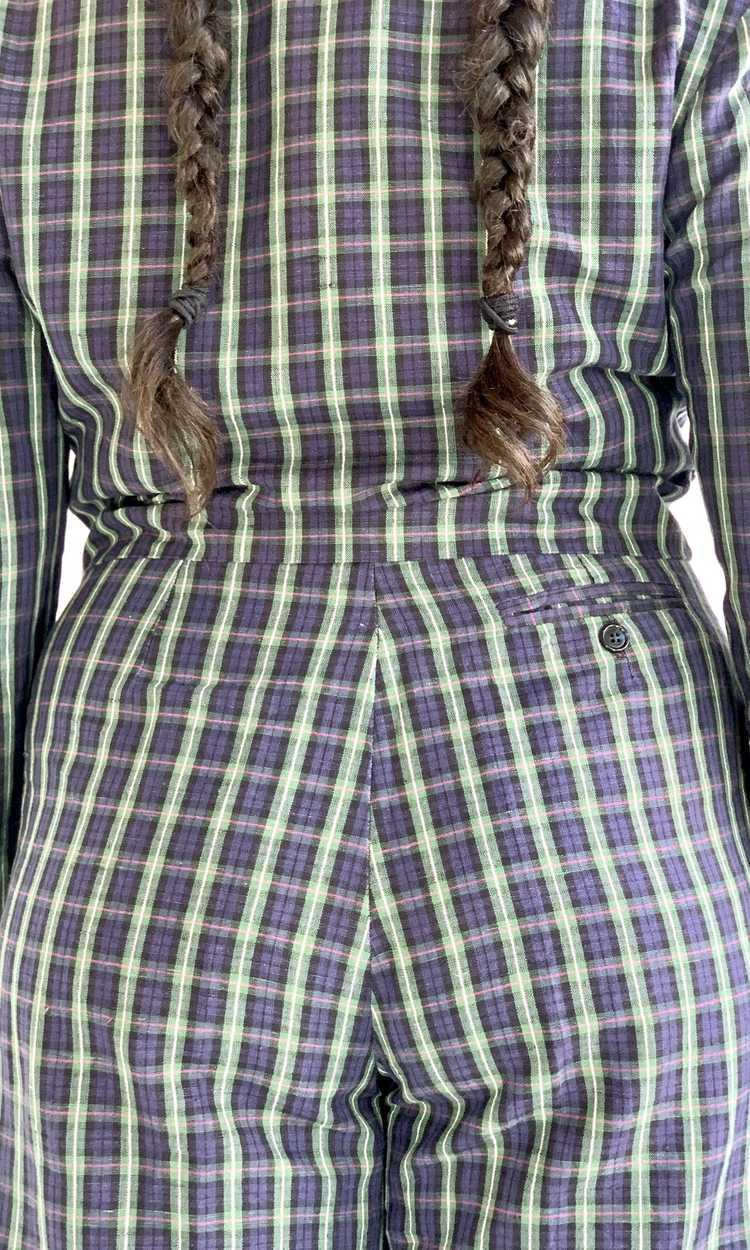 Plaid Linen Suit Set - image 5