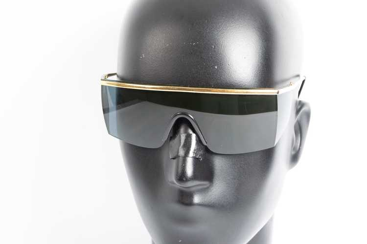 Versace GIANNI VERSACE shield black sunglasses - image 5