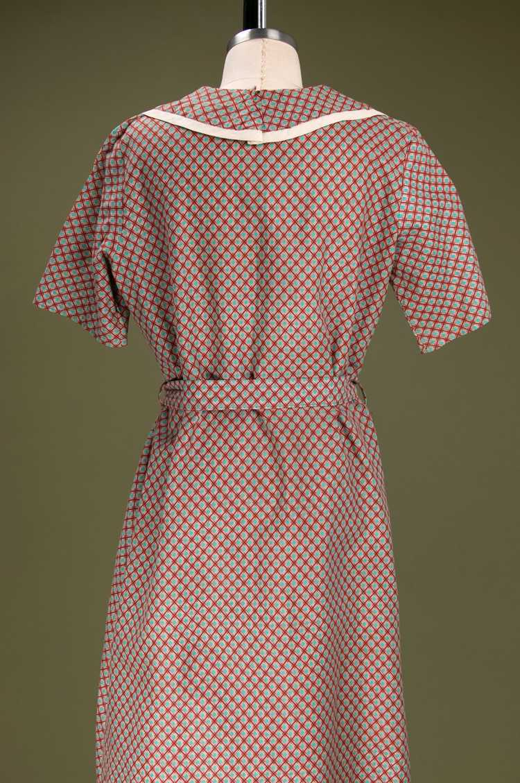Vintage 1930's - Early 1940's Cotton Dress - image 8