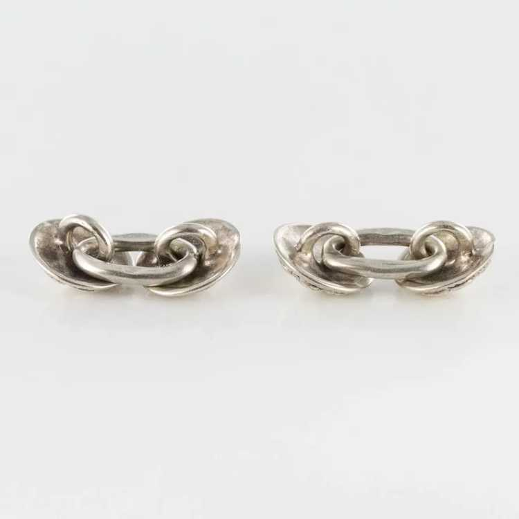 French 18th Century Sterling Silver Cufflinks - image 5