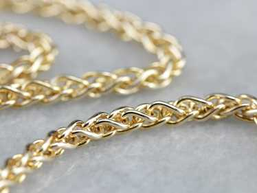 Vintage Yellow Gold Wheat Chain