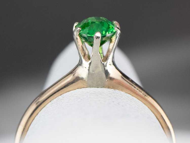 Tsavorite Garnet Gold Solitaire Ring - image 8