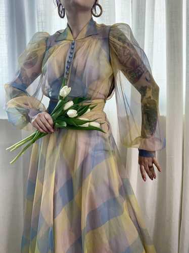 RARE 1940s Ceil Chapman Gown