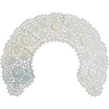 Vintage Belgium Tatted Lace Collar
