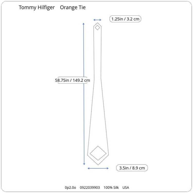 Tommy Hilfiger Tommy Hilfiger Orange Two-Tone 100… - image 12