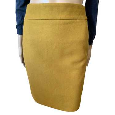 J. Crew Skirt Wool in Gold