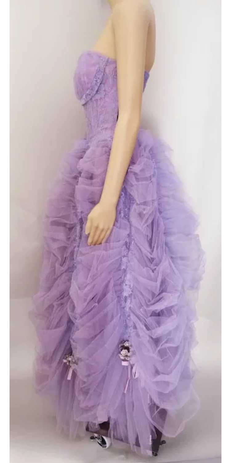Vintage 1940s Gown // Lavender Gown// Strapless G… - image 6