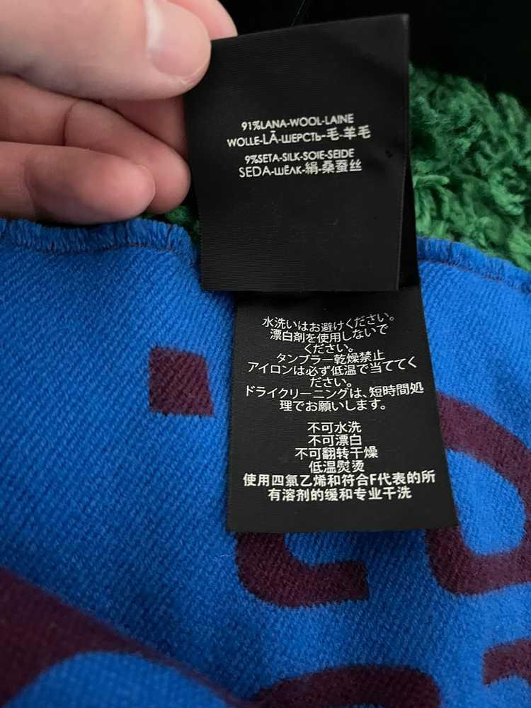 Gucci Gucci GG jacquard wool silk scarf - image 4