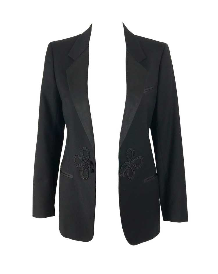 Gucci 1970s Black Smoking Two Piece Suit - image 8