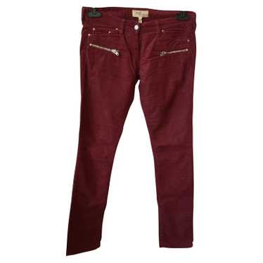 Isabel Marant Etoile Isabel Marant Red Velvet Jean