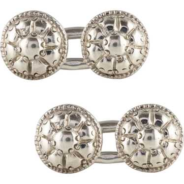 French 18th Century Sterling Silver Cufflinks - image 1