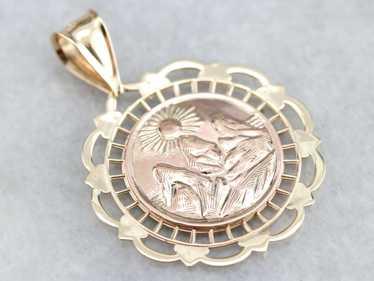 Gold Pythian Sisters Pendant