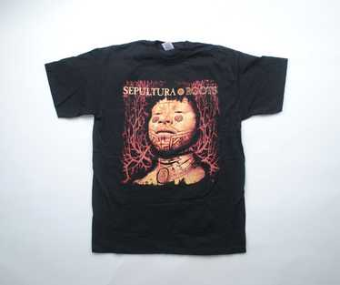 ULTRA RARE 90\u2019s Sepultura transfer tee Band Tees Rap Tees Bootleg