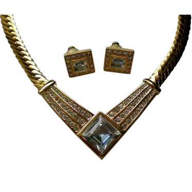 Napier V Necklace with Pierced Earrings
