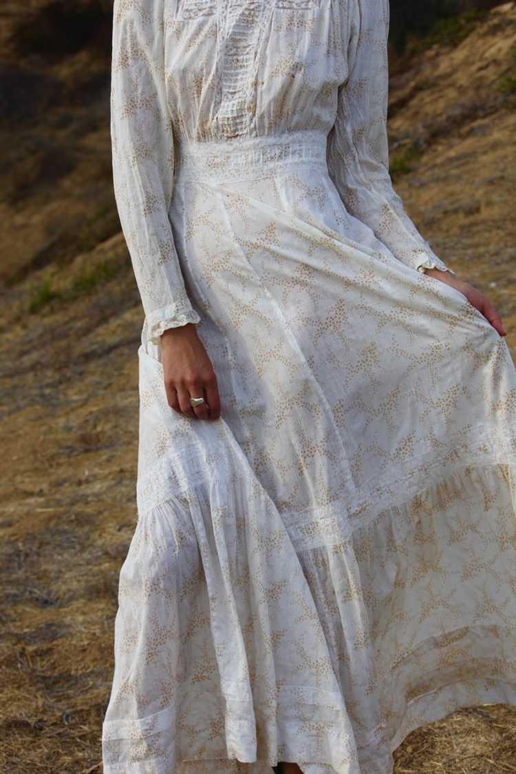 Antique Victorian Calico Lawn Dress - image 2
