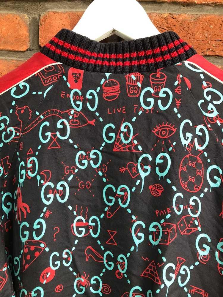 Gucci Gucci Ghost Silk Bomber - image 9