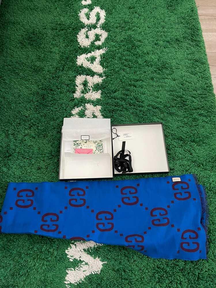 Gucci Gucci GG jacquard wool silk scarf - image 1
