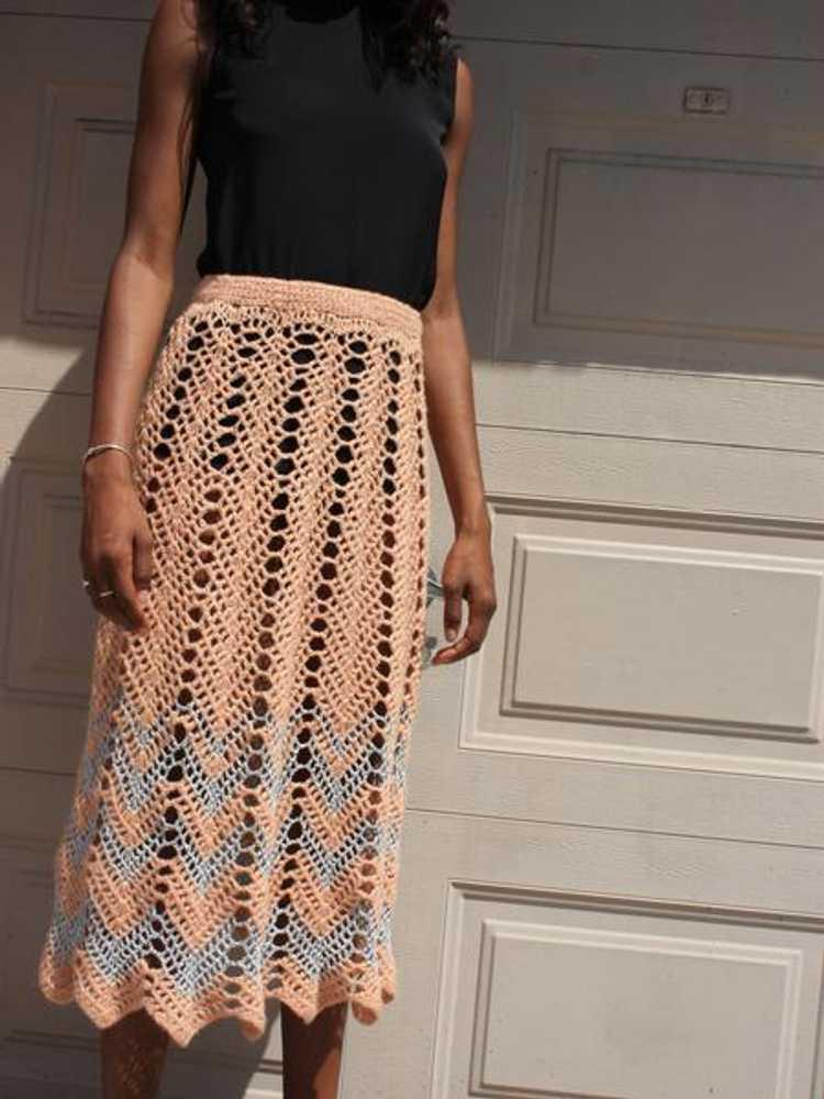 Metallic Crochet Skirt - image 6
