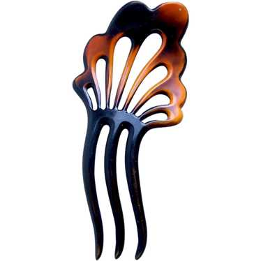 Art Deco celluloid hair comb Spanish hair accessor
