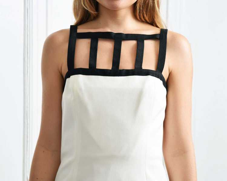 Vintage Caged Sheath Dress - image 5
