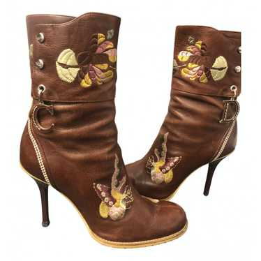 Dior Brown Leather Ankle boots for Women 36 EU